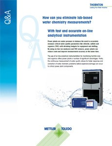 Eliminating lab-based water cycle chemistry measurements