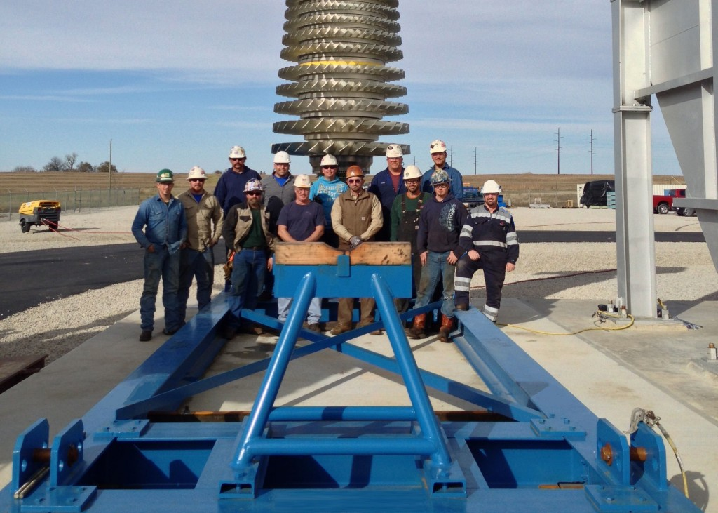 Sulzer maintenance team at Holden Power Plant, Missouri