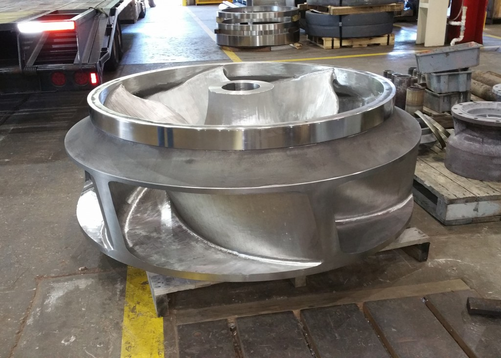 New impeller fabricated by Sulzer was optimized for efficiency