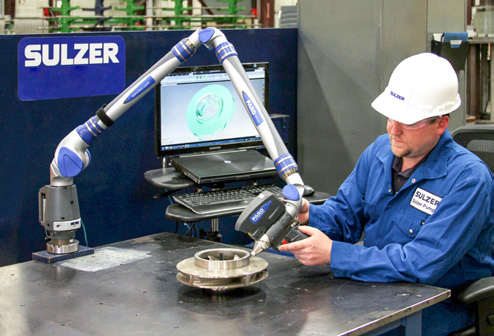 Sulzer Engineer using newest technology to recreate complex designs