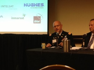 Col.  Andrew Weate, chief architecture and analysis division, U.S. Department of Defense executive agent for space staff speaking at HTS roundtable in Washington D.C.